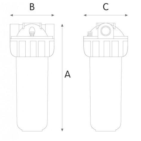 Συσκευή φίλτρου κεντρικής παροχής Senior 3P 10SX 1/2'' Atlas