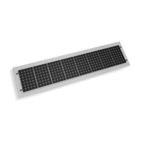 Σύστημα στήριξης φωτοβολταϊκών 10kw MiniRail Κ2-System σε βιομηχανική στέγη