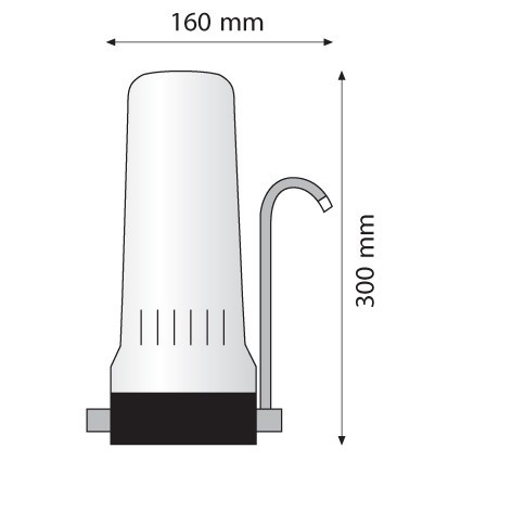 Συσκευή φίλτρου πάγκου Atlas Depural Top Λευκή